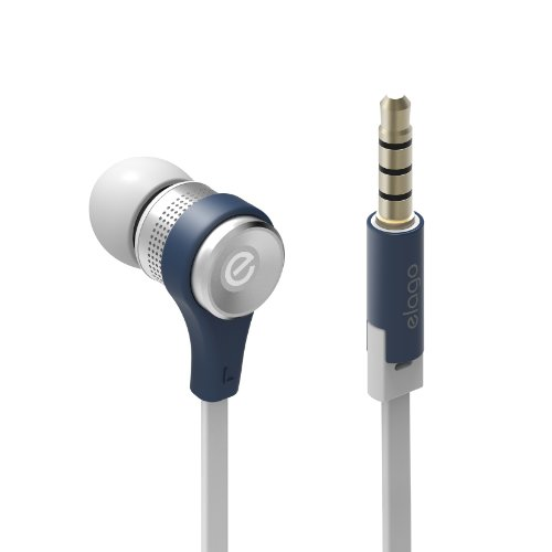 Elago E6 Isolate Sound In-Ear Earphones (All Multimedia Devices/Phones Using 3.5Mm Connection) (Jean Indigo)