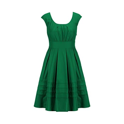eShakti Women's Chelsea dress XL-16 Short Jade green