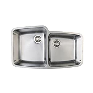 Blanco BL441002 BlancoPerforma Medium 1-3/4-Inch Bowl Undermount Sink, Satin Polished