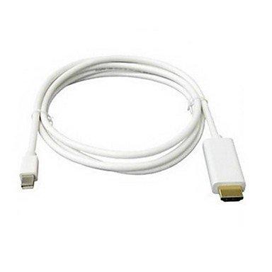 DNHDG® 6ft 1.8M Blanc Mini DP de DisplayPort câble adaptateur HDMI pour Apple MacBook