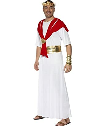Smiffy's Men's Romulas The King Robe, Red/White, Large