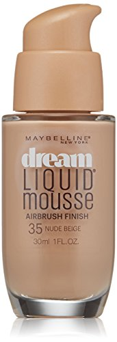 Maybelline New York Dream Liquid Mousse Foundation, Nude Beige Light 3.5, 1 Fluid Ounce (Packaging May Vary)