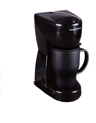 Toastess TFC-2T 450-Watt Personal-Size Coffeemaker with Thermal Travel Mug