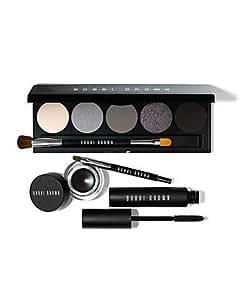 Bobbi Brown SMOKEY EYE COLLECTION palette ~ Black ink gel eyeliner, mascara, eyeshadow Ivory, Sterling, Steel, Black Charcoal...