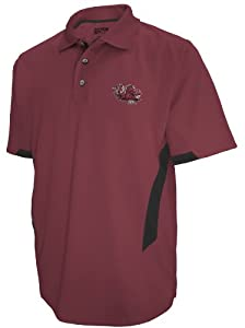 NCAA South Carolina Gamecocks Mens Green Light Short Sleeve Polo, Garnet by SECTION 101 Majestic