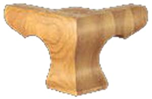 Brown Wood Inc. 01703010AK1 Corinthian Hampton Plain Corner Bun Foot, Red Oak at Sears.com