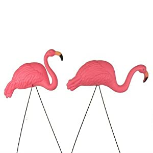Bright Pink Flamingo Yard Ornament (2pack)