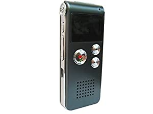 """Rechargeable Digital Stereo 8GB Recorder """"Tested to work best for EVP Recordings"""" (Pro Series)(Ghost Hunting Equipment)"""