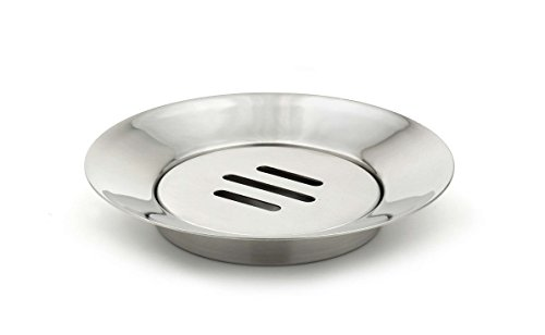 StainlessLUX 71187 Two-tone Stainless Steel Soap Dish - Fine Bath Accessory for Your Home