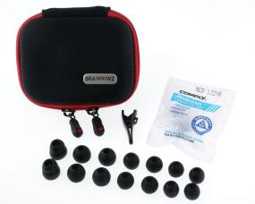 Brainwavz Accessories Including Earphone Case & Comply Foam Tips