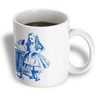 3Drose Drink Me Alice In Wonderland Vintage Ceramic Mug, 15-Ounce