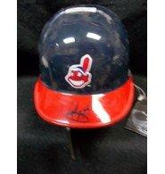 Signed Gonzalez, Juan (Cleveland Indians) Cleveland Indians Mini Helmet autographed by Powers+Collectibles