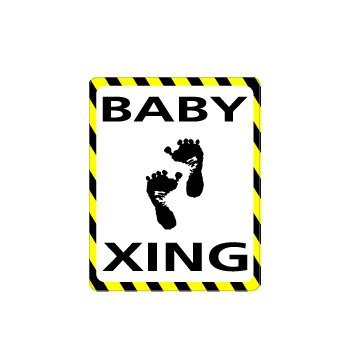 BABY Crossing - Window Bumper Laptop Sticker
