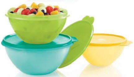 Tupperware 3 Piece Original Wonderlier Bowl Set in New Colors