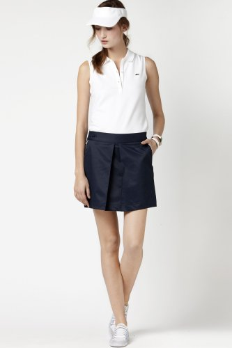Stretch Gabardine Golf Skirt With Built In Shorts