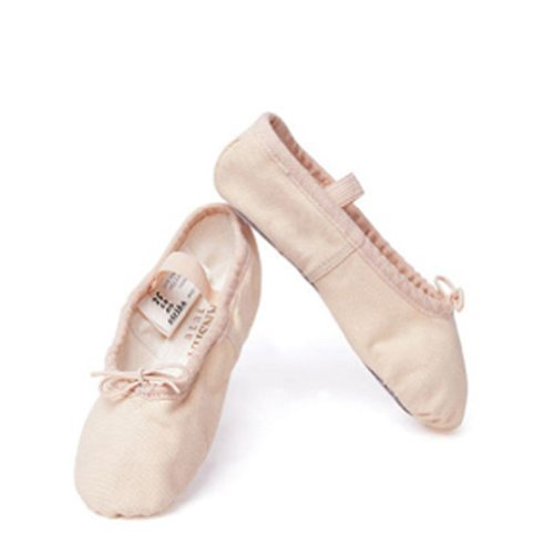 Unknown Sansha Pink Ballet Full Leather Sole Ballet Shoes Little Girls 5M-7M