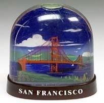 San Francisco Snow Golden Gate Bridge History Water Snow Globe 52641