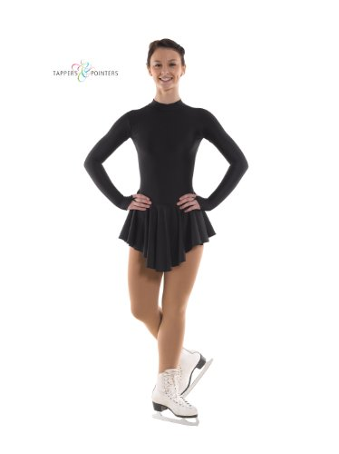 Tappers & Pointers Ice Skating Dress With Matching Scrunchie - Black 6-8 years
