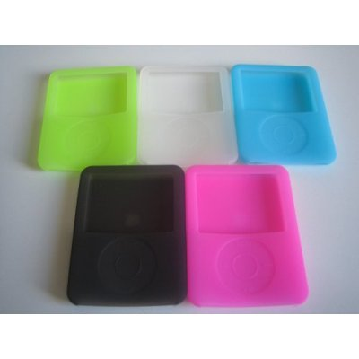 EASYi - APPLE IPOD NANO 3RD GENERATION CASES (SKINS) PACK -5 COLOURS (GREEN, PINK, CLEAR, BLACK, BLUE)