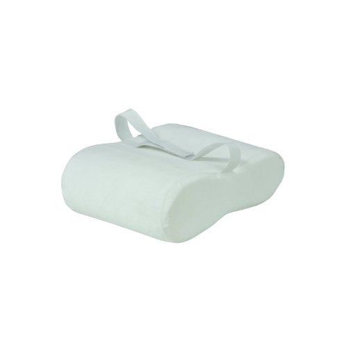 White Velour Memory Foam Leg Support & Comfort Pillow Between Legs or Underneath