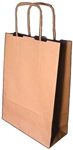 3 P - Sac Papier sans Impression - Kraft Brun Recyclé - 24 x 12 x 31 cm - 25 Sacs