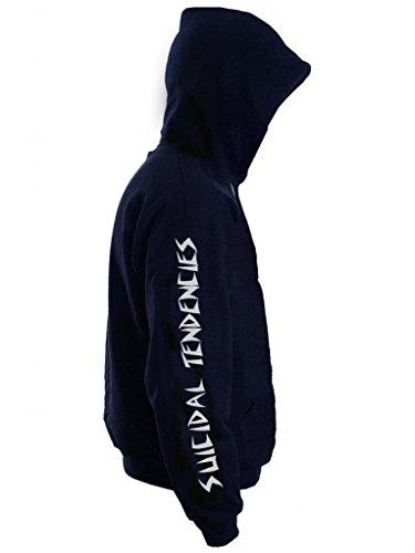 Suicidal St Logo, Skater Urban Street Wear Cool Graphic da uomo con cappuccio, con cappuccio Black Large