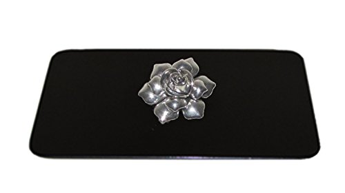 Toaster Tops A3003-4B Silver Flower Toaster Top, Black/Silver (Flower Toaster compare prices)