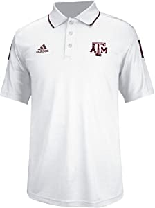 Texas A&M Aggies Adidas 2014 Sideline Climalite Polo Shirt - White by adidas