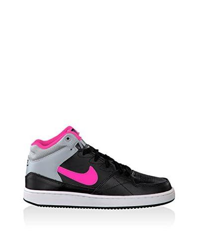 Nike Sneaker Alta Priority Mid Gs [Nero/Fucsia/Grigio]