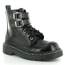 T.u. k. t2174 tUK 38 femme new anarchic 7 eye-boot 2 bottes de montagne en cuir avec boucle noir