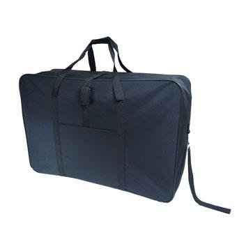 "34"" Black Jazzi Super Lightweight Folding Suitcase Cargo Bag Holiday Travel 5 Wheeled Holdall from Jazzi"