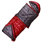 HIGHROCK Tianshi couple outdoor camping around -5 degrees to fight each other down sleeping bag envelope bears the right to open red red Picture