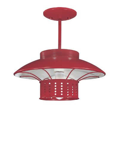 Westinghouse 64782 Garage Lighting One-Light Super Sport Adjustable Pendant Fixture, Racing Red