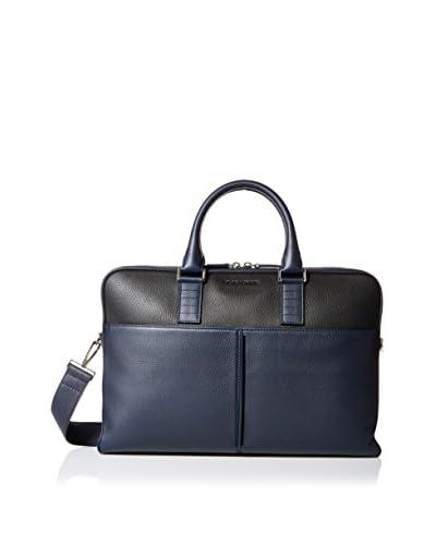 Dior Men's Two Tone Briefcase, Blue/Black