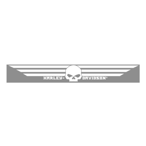 Harley-Davidson White Skull Xpressionz Windshield Decal CG3764 (Harley Back Window Decals compare prices)