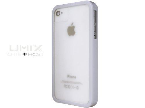 iPhone 4S / 4 Novoskins UmiX Bianco Bumper e Matt Trasparente Dual Piece Hard Case (Buy Any UMIX Case and Get 1 RANDOM Colour Case Free)