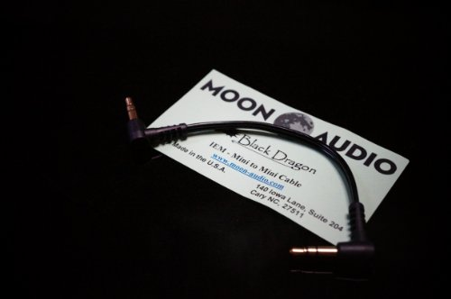 Moon Audio Black Dragon V2 3.5Mm To 3.5Mm Replacement Upgrade Cable For Headphone Amplifer Dock Cable