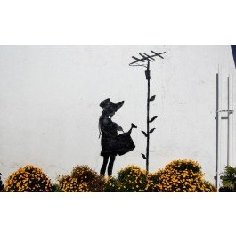 Canvas Prints -Banksy - A Girl 24x36