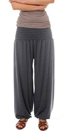 Beautiful  Harem Pants Aladdin Trousers Ladies Baggy Pants Black Amazoncouk
