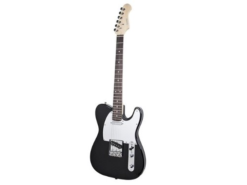"""""""Retro Vision"""" Solid Body Electric Guitar - Black Product No: 610150"""