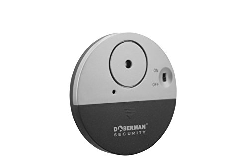 DOBERMAN SECURITY Ultra-Slim Window Alarm with Loud 100dB Alarm and Vibration Sensors - Modern & Ultra-Thin Design Compatible with Virtually Any Window - Perfect for Home, Office, Dorm Room or Even RVs - Model SE-0106 (Security Alarm Sensor compare prices)