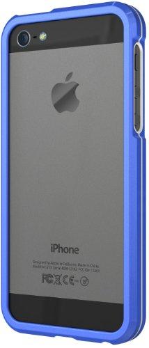 XtremeMac Aluminium Borders Schutzcase für Apple iPhone 5 (Aluminium-Rahmen) Blau