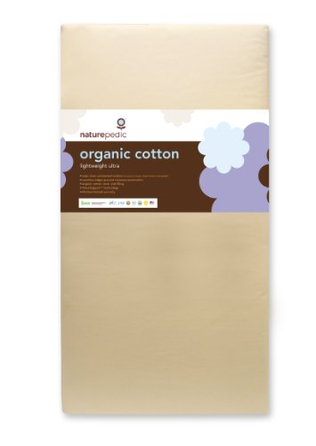 Naturepedic No Compromise Organic Cotton Ultra Lightweight Crib Mattress