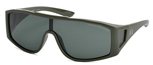 Armani Exchange AX4022S Sunglass-808771 Chive (Dark Green Solid Lens)-145mm