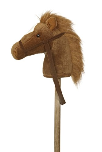 "Aurora World World Giddy-Up Stick Horse 37"" Plush, Brown"