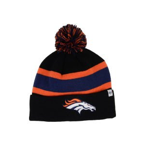 Denver Broncos Black Breakaway Cuffed Pom Knit Beanie Hat / Cap