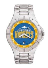 Denver Nuggets Mens Pro Ii Sterling Silver Bracelet Watch by Logo Art