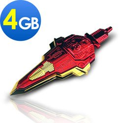 "4gb USB Transformable Sword Transformers 3 Flash Drive ""Red"""