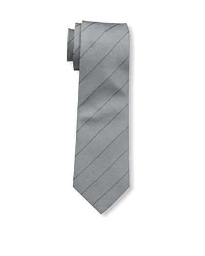 Valentino Men's Striped Tie, Dark Grey