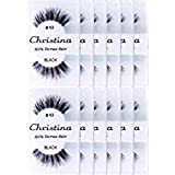60 Packs Eyelashes - #43 by Christina (Color: 60 Pairs)